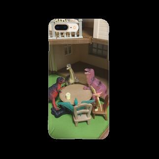 umenanの恐竜井戸端会議 Smartphone cases