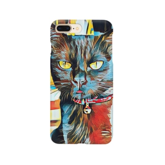 黒猫バロン Smartphone cases