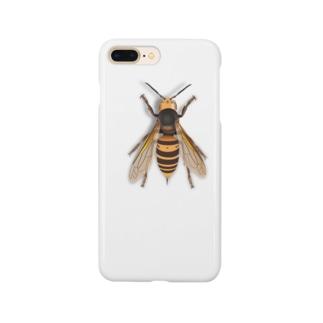 いたずらデザイン(ちょっとスズメバチついてますよ) Smartphone cases