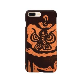 東風の鬼梟 Smartphone cases