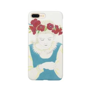 庭にて-ポピー Smartphone cases