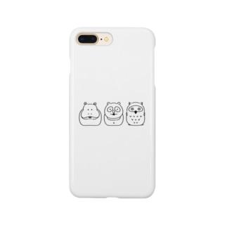 Hipporaccowl(ヒポラカウル)黒 Smartphone cases