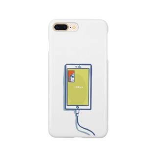充電中のスマホ[一時停止中] Smartphone cases