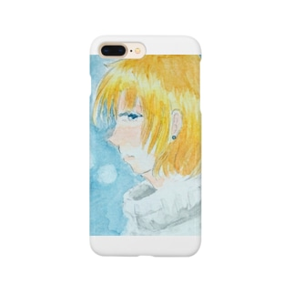 冬の女の子 Smartphone cases