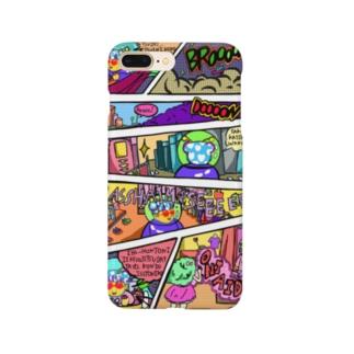 アメコミ風ピリンちゃんお買い物テーマ Smartphone cases
