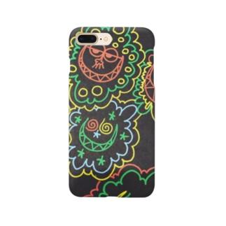 カラフルフワフワ Smartphone cases