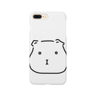 -END-のぽったりモルモット 黒線・透過Ver. Smartphone cases