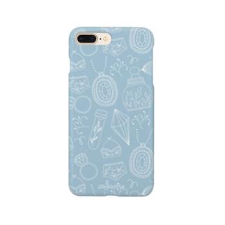 ジュエリー ブルー Smartphone cases