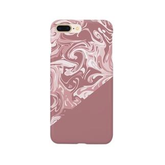 大人女子もピンクがお好き Smartphone cases