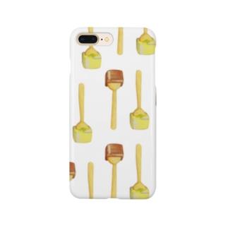 ホットチョコレート総柄 Smartphone cases