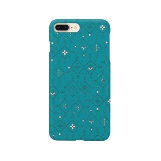Diamonds green (iPhoneケース) Smartphone cases
