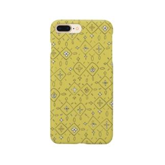 Diamonds yellow (iPhoneケース) Smartphone cases