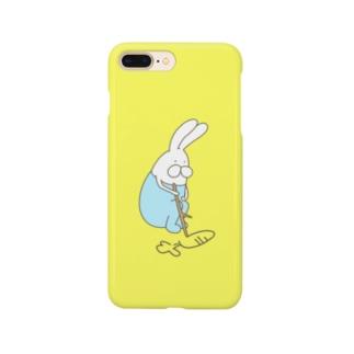 うさぎロンパースのらくがき Smartphone cases