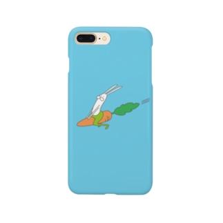 うさぎタイツのにんじんライド Smartphone cases