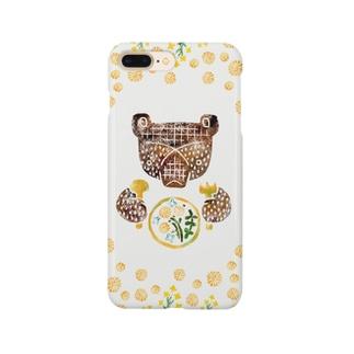 春のごちそう(くま) Smartphone cases