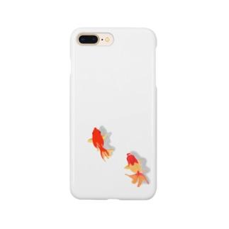 住みつく金魚 Smartphone cases