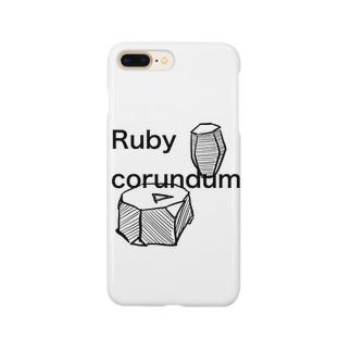 コランダムの結晶原石の晶癖 Smartphone cases