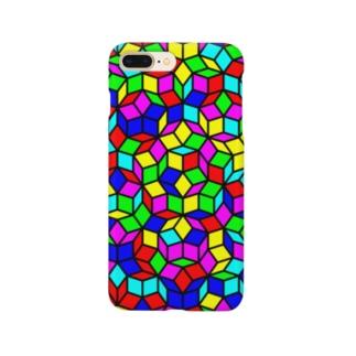 ペンローズモザイク(カラー) Smartphone cases