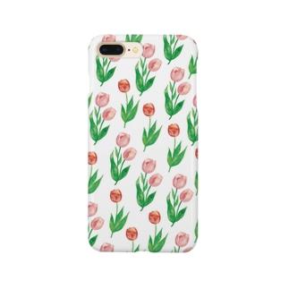 チューリップ柄iPhoneケース Smartphone cases