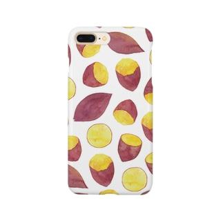 さつまいも柄iPhoneケース Smartphone cases