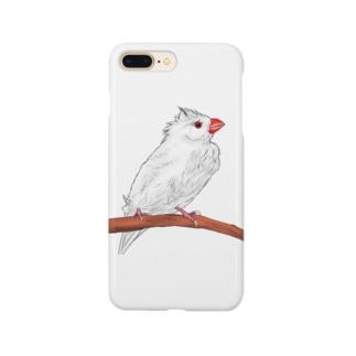 水浴び文鳥 Smartphone cases