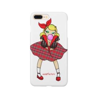 ロカビリーガールⅡ【red】 Smartphone cases