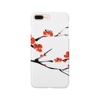 梅 水墨画 Plum Blossom - 凛として美しく Smartphone cases