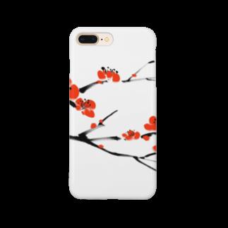 Art Experience Studio - Japanの梅 水墨画 Plum Blossom - 凛として美しく Smartphone cases