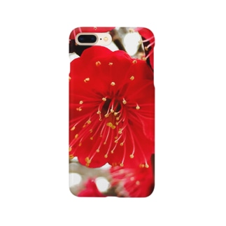 紅色 梅 Smartphone cases