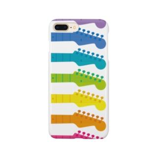 虹色ギターヘッド Smartphone cases