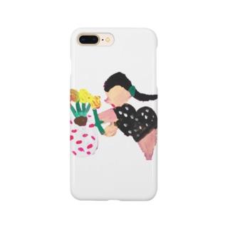 鉢植え中の女性 Smartphone cases