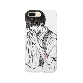 鼻血出てるくん Smartphone cases