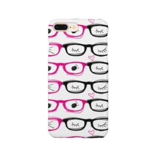 メガネ柄スマホケース Smartphone cases