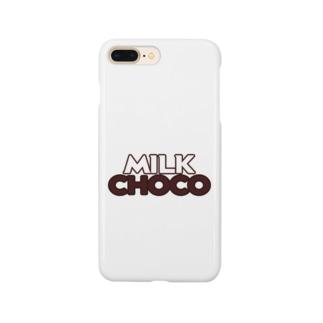 ミルクチョコロゴグッズデザインB Smartphone cases