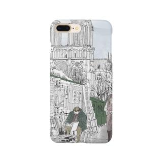 セーヌ川沿いの露店のおやじ Smartphone cases