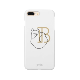 Ⓑ|Brown bear・クマ Smartphone cases