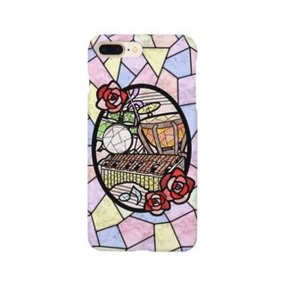 ステンドグラス風パーカッション Smartphone cases