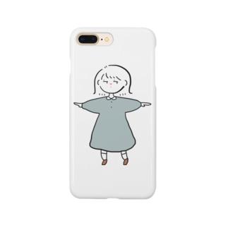 考えた外ハネ女の子 Smartphone cases