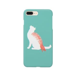 ネコ寿司(えび) -nekosushi AB- Smartphone cases
