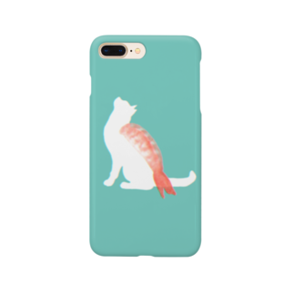 お寿司のネコ寿司(えび) -nekosushi AB- Smartphone cases