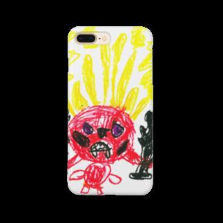 長男の描いた絵のなきむしおにをたいじしたい Smartphone cases