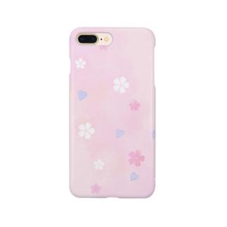 ゆめかわいい桜の花柄 Smartphone cases
