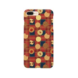 クッキーのチェック(タータン) Smartphone cases