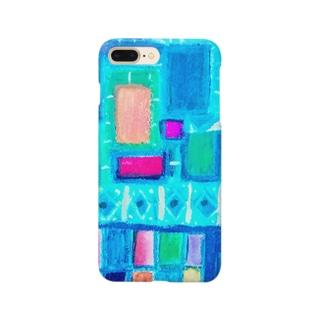 ターコイズスクエア Smartphone cases