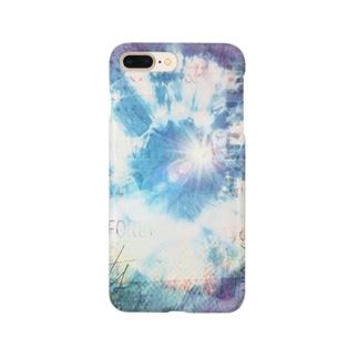 絞り★ブルーパープルプラス Smartphone cases