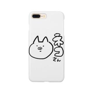 ネコさんの真顔 Smartphone cases