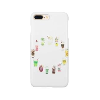 ドリンク(文字なし) Smartphone cases