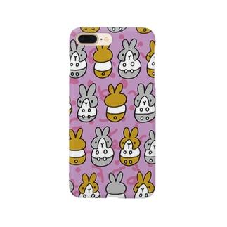 はちわれちゃん(紫) Smartphone cases
