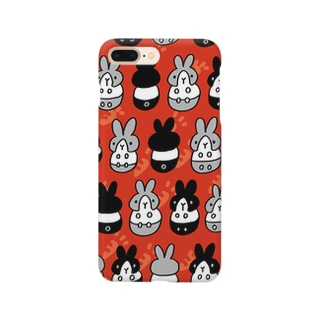 はちわれちゃん(赤) Smartphone cases