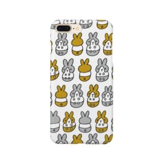 はちわれちゃん(茶・クリア) Smartphone cases